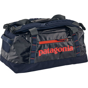 """Patagonia Black Hole Duffel Bag 45L Navy Blue W/Paintbrush Red"""